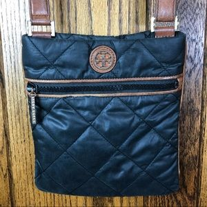 Tory Burch Black Quilted Crossbody Purse